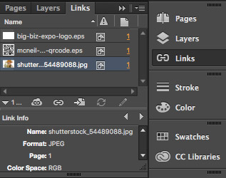 Embed Images in InDesign