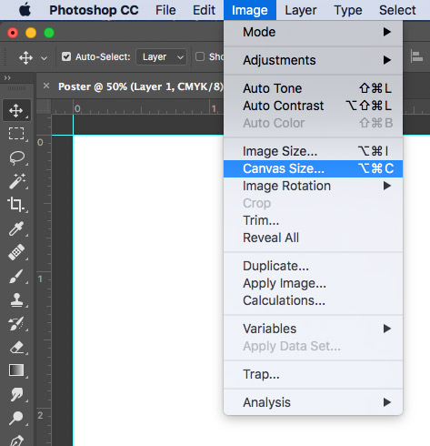Adjust Canvas Size in Photoshop