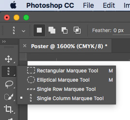 Select Row Marquee in Photoshop