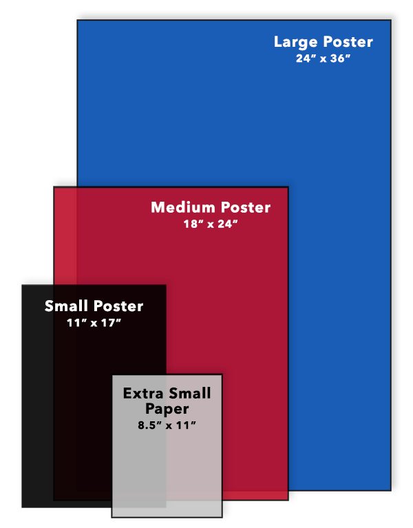 Poster Sizes at McNeil Printing